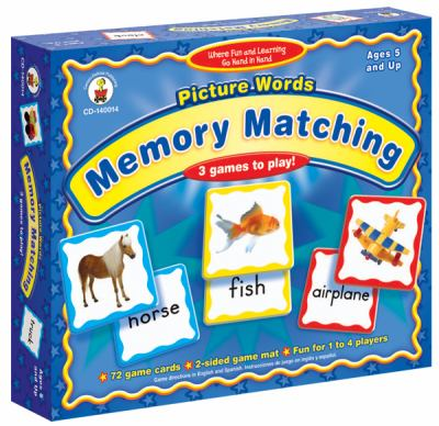 Picture Words: Memory Matching 9781594417580