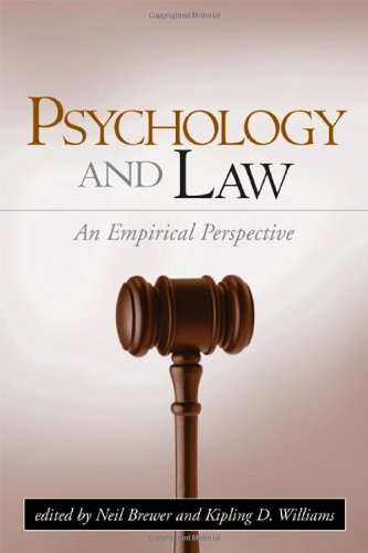 Psychology and Law: An Empirical Perspective 9781593851224