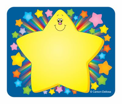 Rainbow Star Name Tags 9781594419003