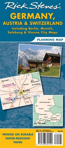 Rick Steves' Germany, Austria, and Switzerland Map: Including Berlin, Munich, Salzburg and Vienna City 9781598800524