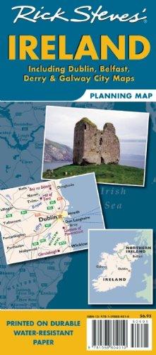 Rick Steves' Ireland Planningmap: Including Dublin, Belfast, Derry & Galway City Maps 9781598804010
