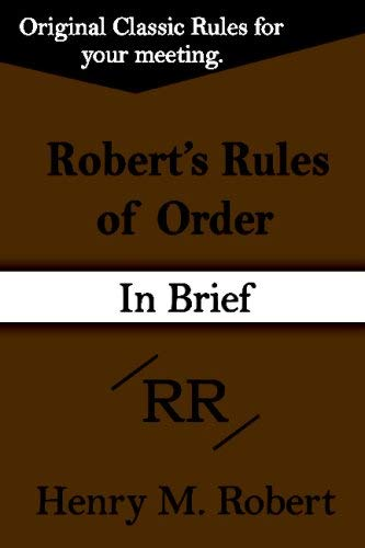 Robert's Rules of Order 9781599869377