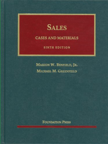 Sales: Cases and Materials - 6th Edition