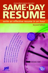 Same Day Resume Write an Effective Resume in an Hour