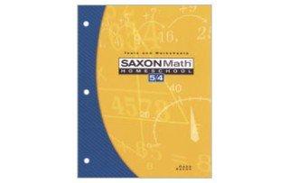 Saxon Math Homeschool 5/4: Tests and Worksheets