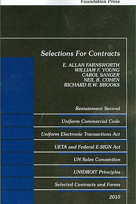 Selections for Contracts: Restatement Second, UCC Articles 1 and 2, Uniform Electronic Transactions Act, Electronic Signatures in Global and Nat 9781599417073
