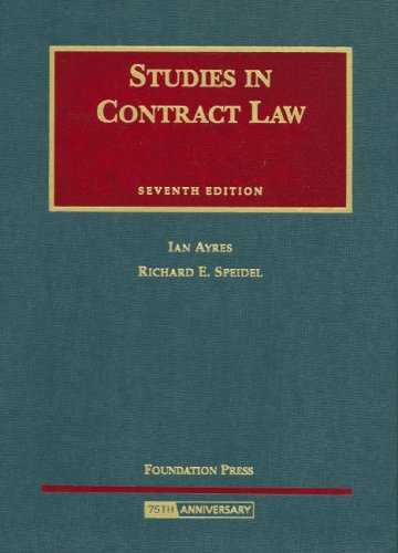 Studies in Contract Law 9781599412559