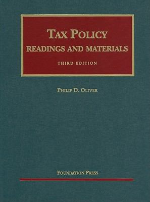 Tax Policy: Readings and Materials 9781599416250