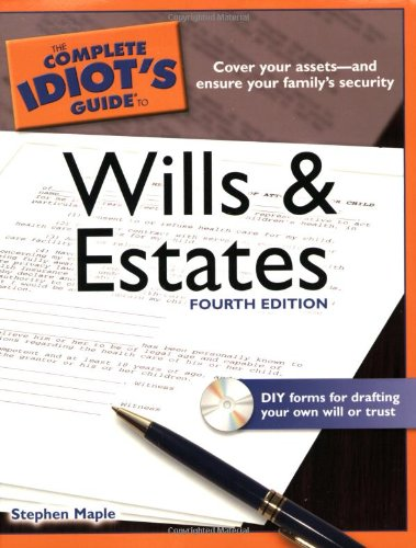 The Complete Idiot's Guide to Wills and Estates [With CDROM] 9781592578603