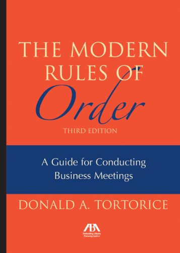 The Modern Rules of Order 9781590317921
