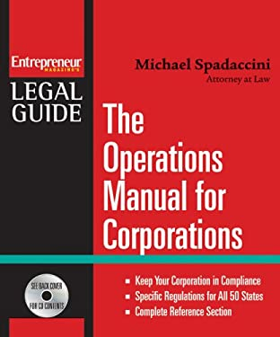 The Operations Manual for Corporations [With CDROM] 9781599181462