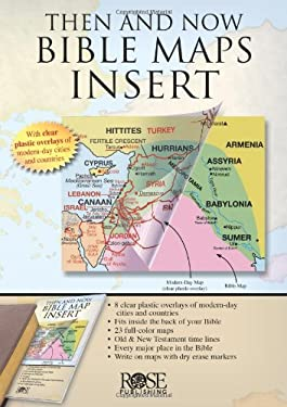 Then and Now Bible Maps Insert 9781596362932