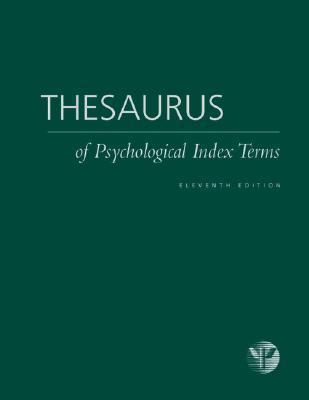 Thesaurus of Psychological Index Terms 9781591479260