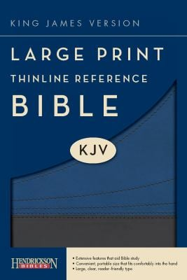 Thinline Reference Bible-KJV-Large Print 9781598566291