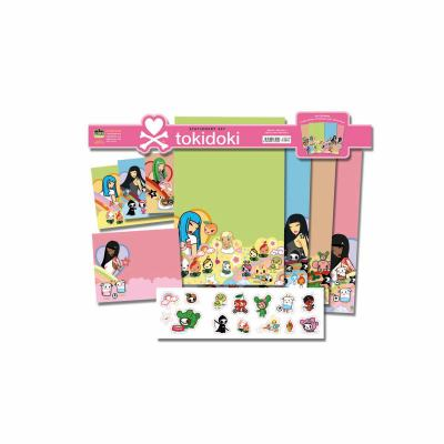 Tokidoki Stationery Set [With Stickers and 6 Envelopes]