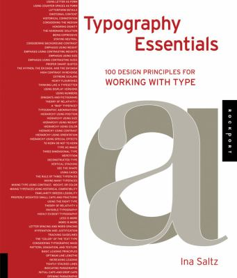 Typography Essentials: 100 Design Principles for Working with Type 9781592535231