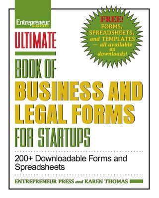 Ultimate Book of Legal and Startup Forms 9781599183893