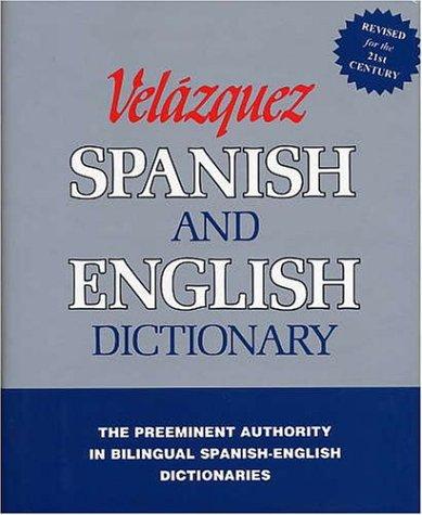 Velazquez Spanish and English Dictionary 9781594950001