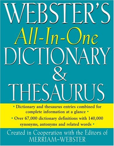 Webster's All-In-One Dictionary & Thesaurus 9781596950467