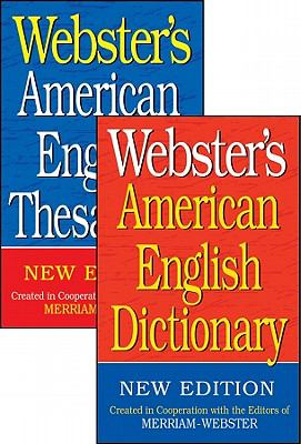 Webster's American English Dictionary/Webster's American English Thesaurus Set 9781596951167