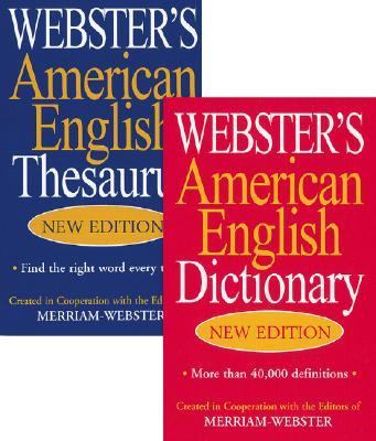 Webster's American English Thesaurus & Dictionary, 2v Set 9781596950054