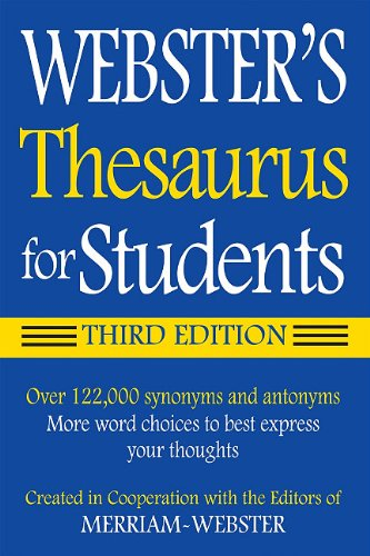 Webster's Thesaurus for Students 9781596950948