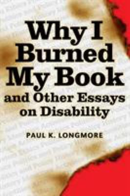 Why I Burned My Book