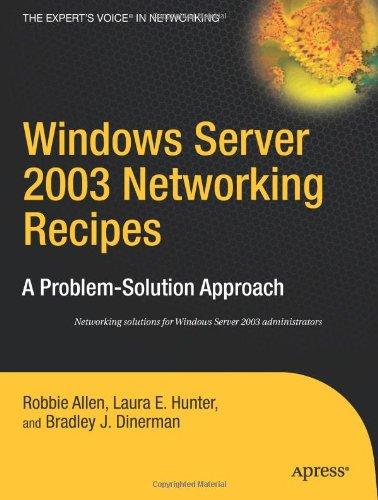 Windows Server 2003 Networking Recipes 9781590597132