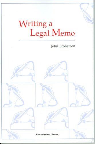 Writing a Legal Memo 9781599410029