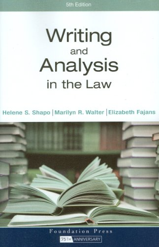 Writing and Analysis in the Law 9781599414249