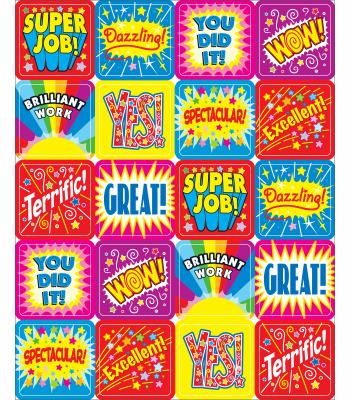 Positive Words Motivational Stickers 9781604186468