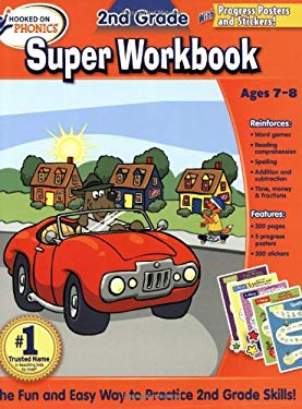 Hooked on Phonics 2nd Grade Super Workbook [With Poster]