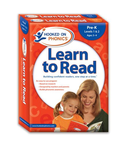 Hooked on Phonics Learn to Read, Pre-K, Levels 1 & 2 [With Workbook and Flash Cards and DVD and Storybooks, Quick Start Guide] 9781604991406