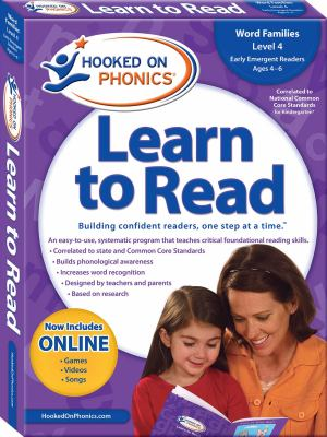 Hooked on Phonics Learn to Read, Kindergarten, Level 2 [With Quick Start Guide and Sticker(s) and Workbook and DVD and Paperback Book] 9781604991420