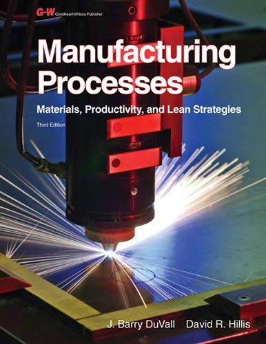 Manufacturing Processes: Materials, Productivity, and Lean Strategies 9781605255699
