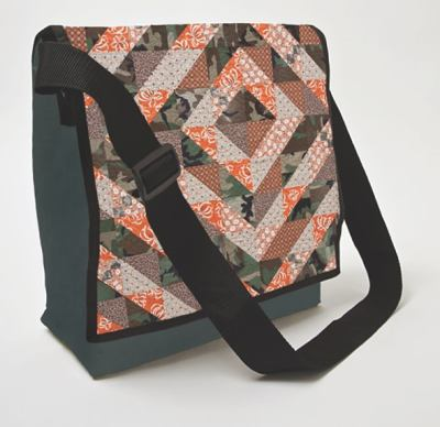 Camo Quilt-Eco Messenger Bag 9781607055235