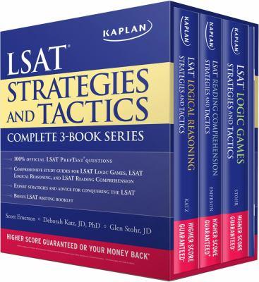 Kaplan LSAT Strategies and Tactics Complete 3-Book Series 9781607149774