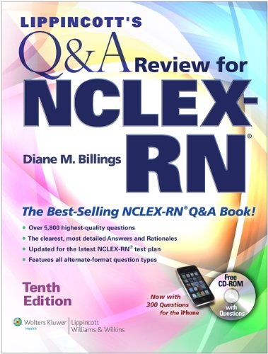 Lippincott's Q & A Review for NCLEX-RN [With CDROM]