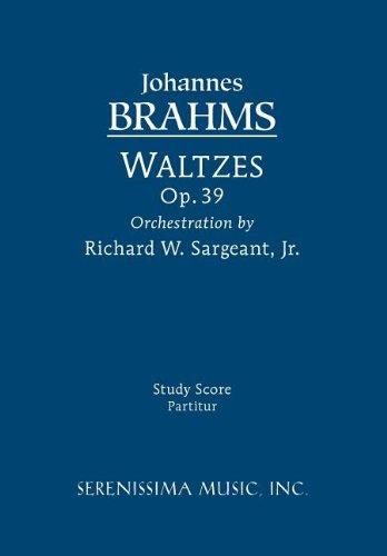 Waltzes, Op. 39 - Study Score 9781608740406