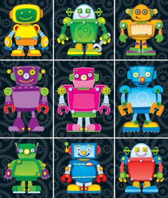 Robots Prize Pack Stickers 9781609960650