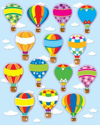 Hot Air Balloons Shape Stickers 9781609960667