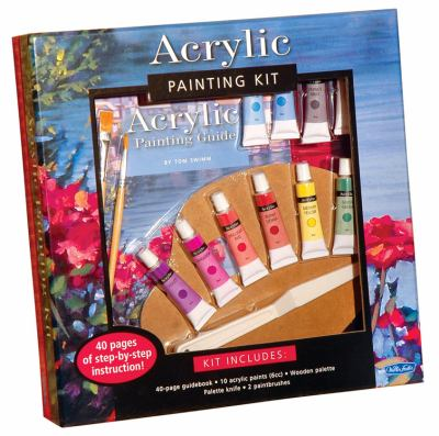 Acrylic Painting Kit [With Palette Knife, Wooden Palette and 2 Paintbrushes and 10 Acrylic Paints and Painting Guidebook 9781600581601