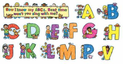 Alphabet Kids: Kid-Drawn, Mini Bulletin Board Set and More 9781600224249