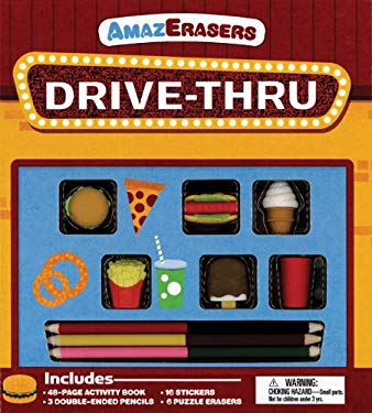 Drive-Thru Activity Book: Games, Puzzles, Doodling, and More! [With 3 Double-Ended Colored Pencils and 6 Erasers] 9781607104322