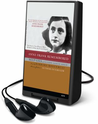 Anne Frank Remembered [With Earbuds] 9781608478545