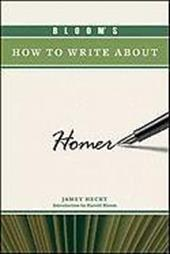 Bloom's How to Write about Homer 7392111