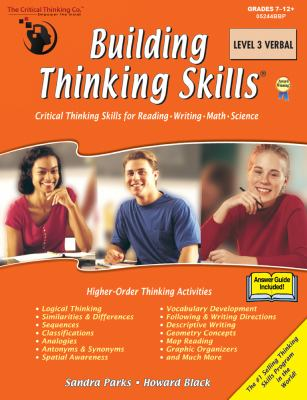 Critical Thinking The Building Thinking Skills Level 3 Verbal School Workbook