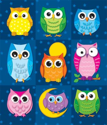 Colorful Owls Prize Pack Stickers 9781604189681