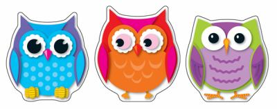 Colorful Owls Cut-Outs 9781609968380