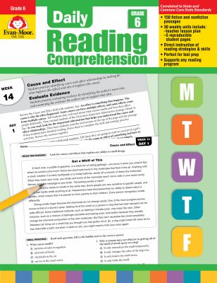Daily Reading Comprenesion, Grade 6 9781608236374